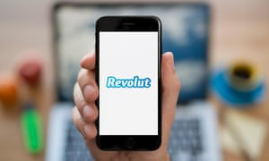 the Revolut banking app on a smartphone