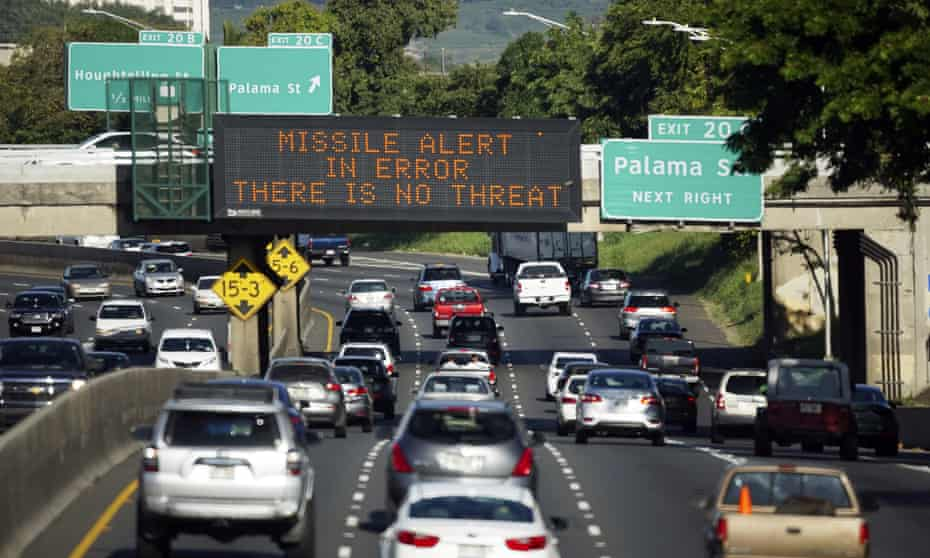 Don't panic after all! Hawaiians are told to ignore the warning of a missile threat in January 2018.