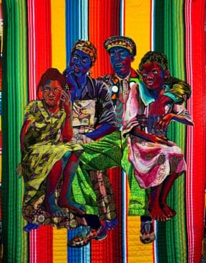 Kindred by textile artist Bisa Butler.