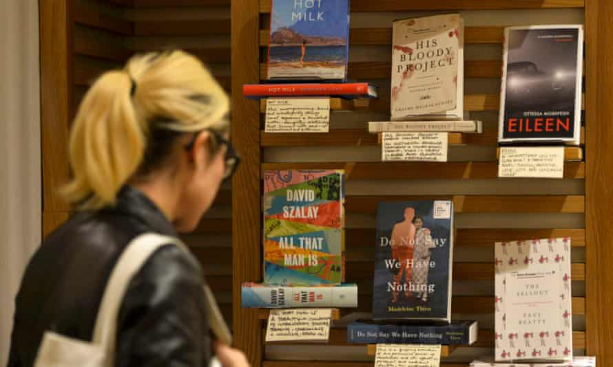 How to decide … Man Booker shortlisted books on display, 2016.
