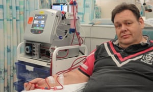 Ian Hichens at Nottingham city hospital dialysis ward