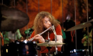 Jethro Tull plays a flute – probably not made of steel.