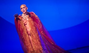 Otherworldly ... Anthony Roth Costanzo in Philip Glass's Akhnaten at Coliseum, London.