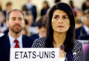 US ambassador to the UN, Nikki Haley.