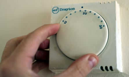A gas central heating thermostat.