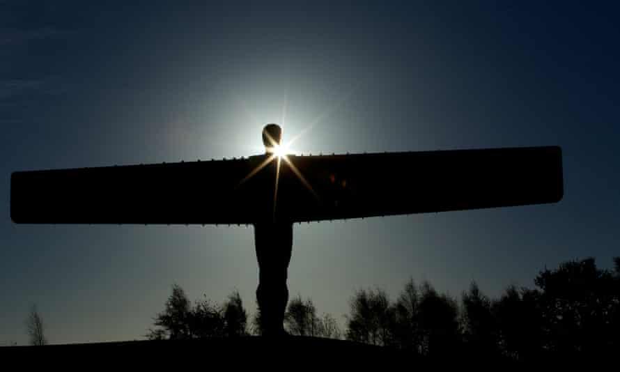 Antony Gormley's Angel of the North statue at Gateshead, Tyne and Wear.