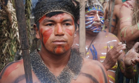 One of the indigenous peoples who would be affected by the proposed Moyobamba-Iquitos electricity transmission line in Peru's Amazon are the Kichwas living along the River Tigre.