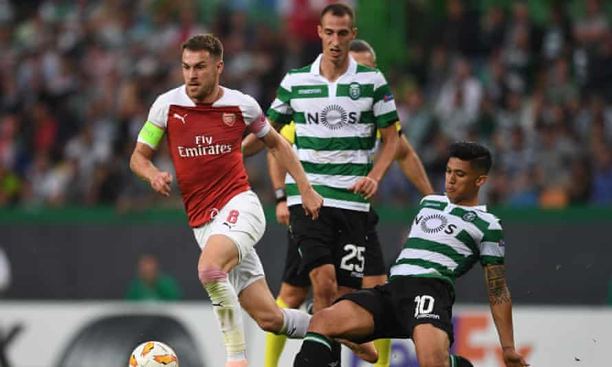 Aaron Ramsey led Arsenal to victory in Lisbon on Thursday.