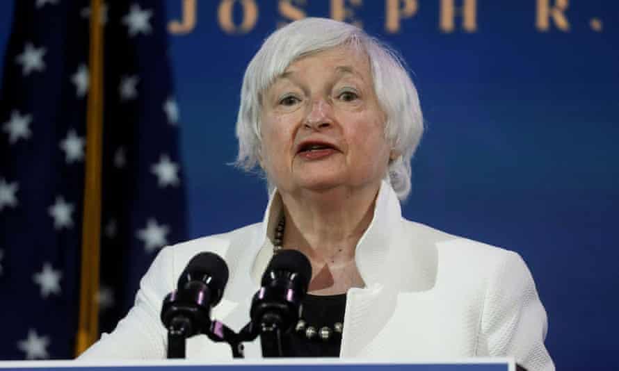 Janet Yellen gives a speech