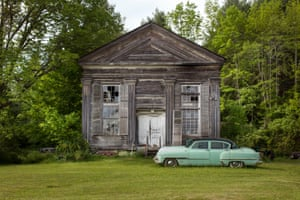 Mechanic shop in former church, Shew Hollow, N.Y. 2014