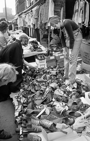 The summer shoe stall where you were lucky to find a matching pair.