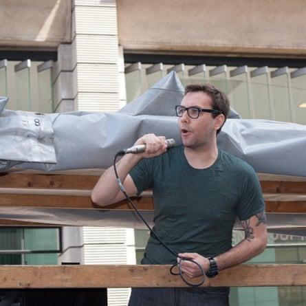 Jacob Appelbaum speaking in Berlin.