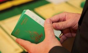 A Vanuatu passport