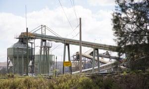 An open cut coal mine in New South Wales