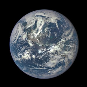This colour image of Earth, taken by NASA's Earth Polychromatic Imaging Camera (EPIC), a four megapixel CCD camera and telescope