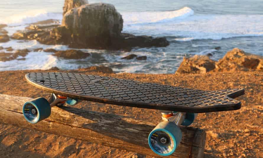 LA-based Bureo uses recycled nylon fishing nets to make skateboards and sunglasses.