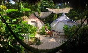 Camping in Tulum, Mexico