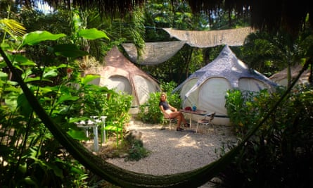 Camping in Tulum, Mexico
