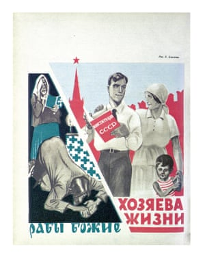 'God's slaves / Masters of life' From Constitution of the USSR Godless magazine, Issue 9–10, 1940