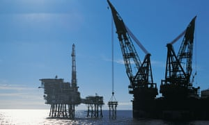 A North Sea oil rig
