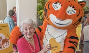 BookTrust Lifetime Achievement Award at London Zoo, UK - 06 Jul 2016Mandatory Credit: Photo by Guy Bell/REX/Shutterstock (5746658ak) Judith Kerr, with the tiger from the book BookTrust Lifetime Achievement Award at London Zoo, UK - 06 Jul 2016 Judith Kerr, the author, who fled Hitler's Germany and went on to write more than 30 children's books (incl the Tiger who came to Tea) and sell more than 9 million worldwide, wins the BookTrust Lifetime Achievement Award 2016 at London Zoo.