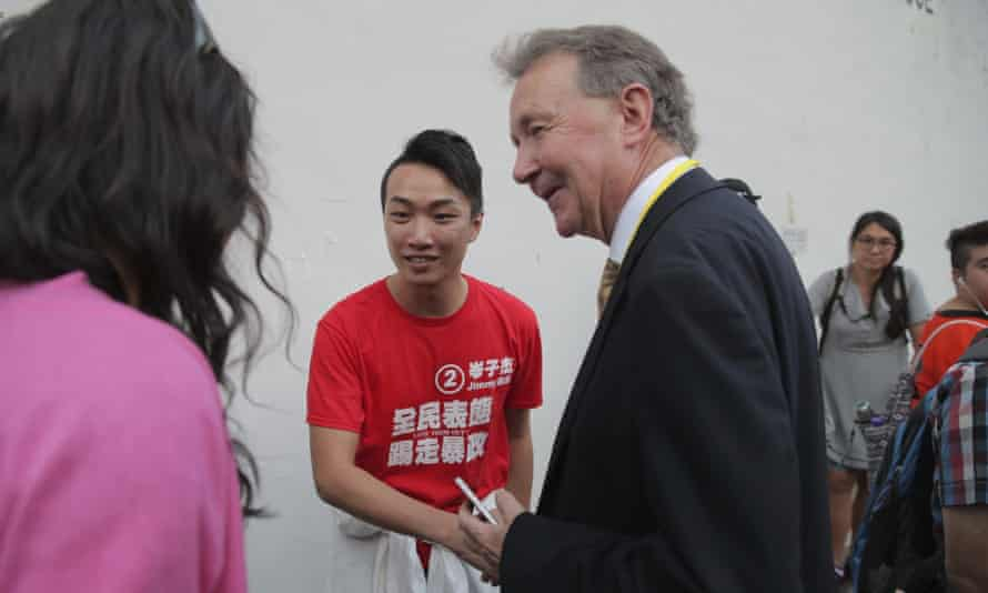 Crossbench peer David Alton, one of the proposers of the amendment, in Hong Kong to monitor local elections last November.