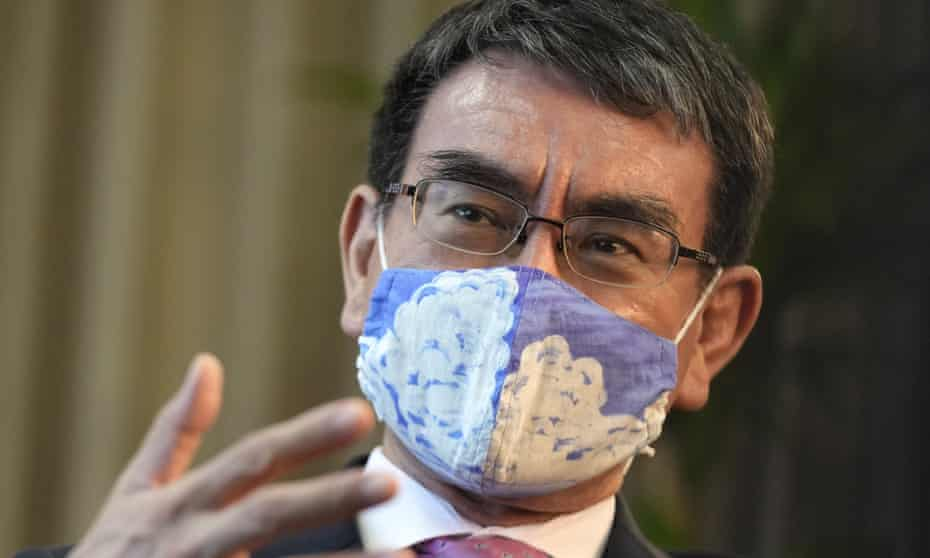 Taro Kono, who is popular with younger voters and is leading polls to be the next prime minister iof Japan