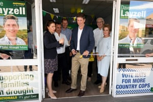 NSW premier Gladys Berejiklian along with NSW Nationals leader and deputy premier John Barilaro and NSW Nationals candidate for Upper Hunter Dave Layzell officially open the NSW Nationals campaign office in Singleton in April.