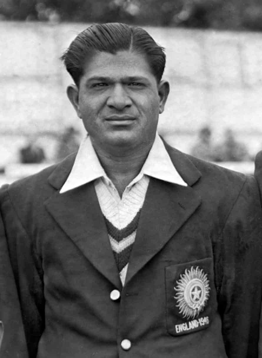 Vinoo Mankad before a match on the All-India Tour of England in the year 1946.