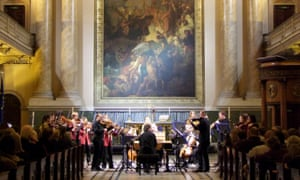 The European Union Baroque Orchestra performing at a festival in York.