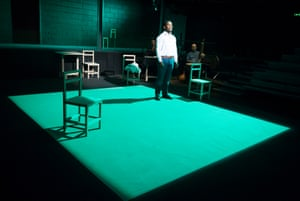Jared McNeill in The Valley of Astonishment, written and directed by Peter Brook and Marie-Hélène Estienne, at the Young Vic, London, in 2014.