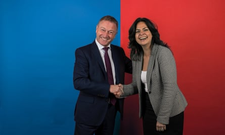 Labour MP Steve Reed and Conservative MP Heidi Allen.