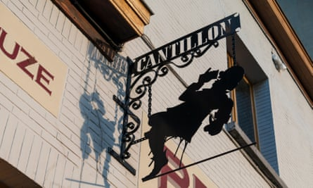 Sign of the Cantillon brewery in Brussels, Belgium.