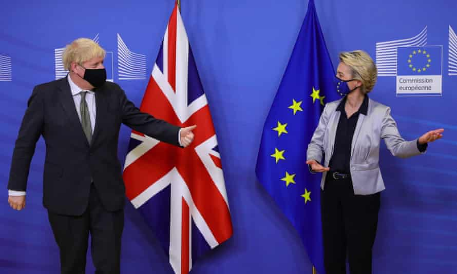 Boris Johnson and European commission president, Ursula von der Leyen