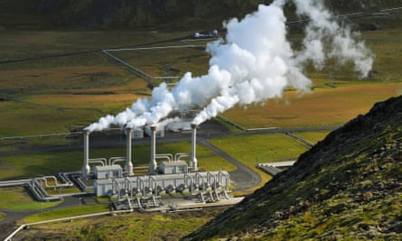 The Nesjavellir geothermal plant in Iceland. The capital Rejkjavik gets 100% of its electricity from renewable sources.