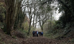 Lost country ... Ramblers mapping old pathways near Hampshire.