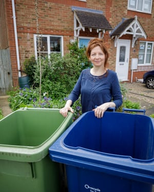 None gone to waste ... Cate Cody with her barely used bins.