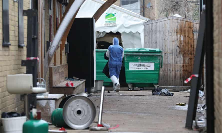 The scene in Gravesend after a car drove into a nightclub