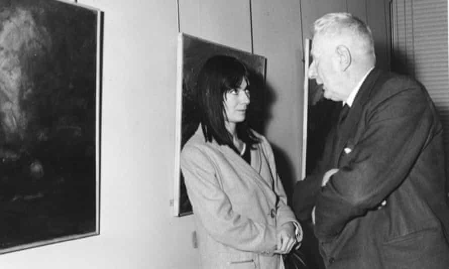 LS Lowry with Sheila Fell, the young artist he championed, in November 1965.
