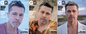 GQ Style's Brad Pitt issue three different covers