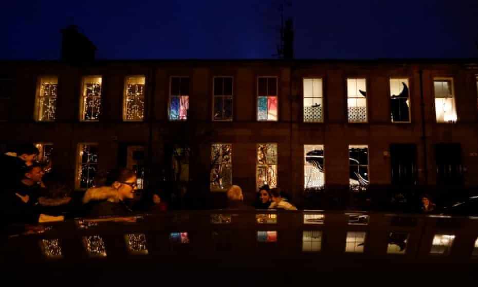On the south side of Glasgow every year the residents of Strathbungo decorate their windows with weird and wonderful displays for other locals to enjoy.
