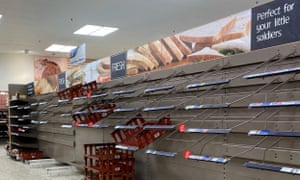 Panic-buying by shoppers initially led to empty shelves but Tesco says supply levels have stabilised.