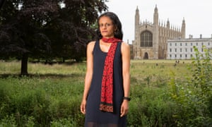 Priyamvada Gopal outside King's College, Cambridge