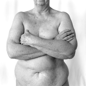 This photograph of a nude older woman was part of a 1999 photographic exhibition by Ella Dreyfus