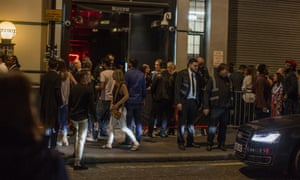 The queue outside Scandal.