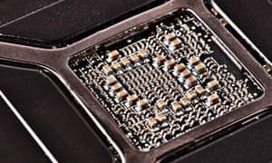 A computer processor chip