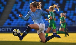 Manchester City's Lauren Hemp in action during the Women's FA Cup win over Watford.