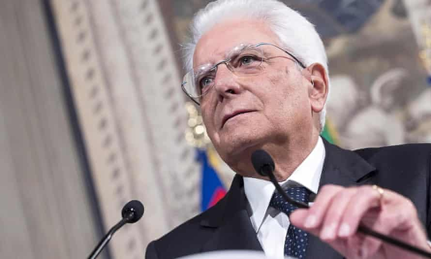 Sergio Mattarella says Italy's current political crisis must be 'resolved quickly'