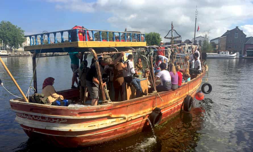 Amsterdam's refugee boat trips
