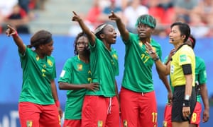 Cameroon's players, like their fans, were angry at VAR decisions made during the last-16 World Cup game against England.
